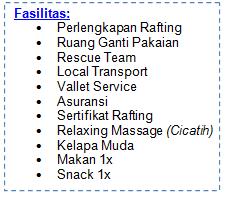 fasilitas rafing